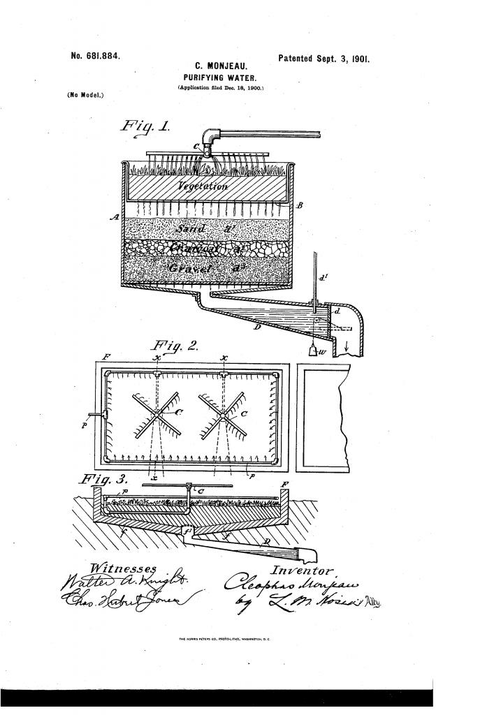 Monjeau Water Purification Patent 1901