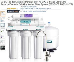 APEC ESSENCE ROES-PH75 Top Tier Alkaline Minderal pH Reverse Osmosis System