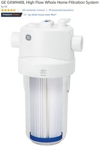 GE BXWH40L High Flow Whole Home Filtration System