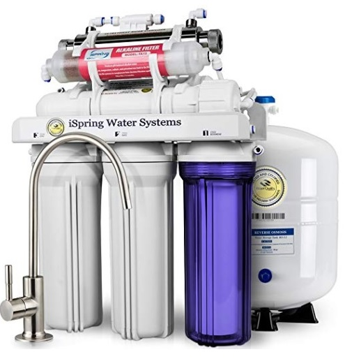 iSpring RCC7AK-UV Deluxe Under Sink 7-Stage Reverse Osmosis Drinking Water Filtration System 2