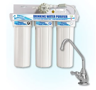 Pelican 3-Stage Under Sink Drinking Water Purification System