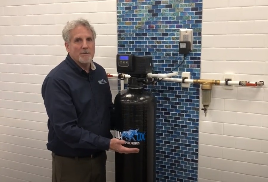Michael Corcoran AquaOx Veteran Owned Company with Whole House Filter in Place